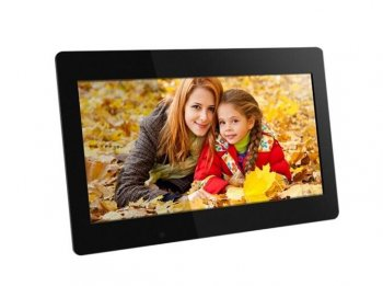 Aluratek - 18.5 inch Digital Photo Frame with 4GB Built-in Memory - Black