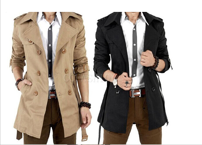 High quality 2014 Men's Dust Coat overcoat spring summer men's